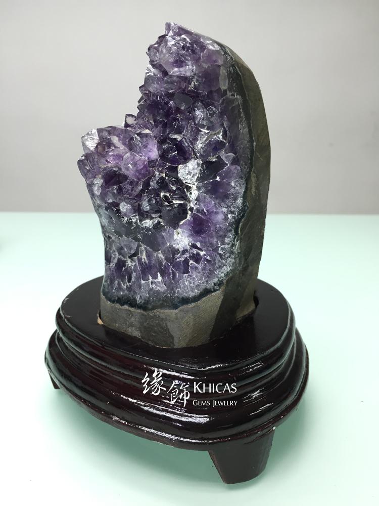 Khicas Gems Jewelry 緣飾天然水晶半寶石 烏拉圭紫晶花 AF1535006
