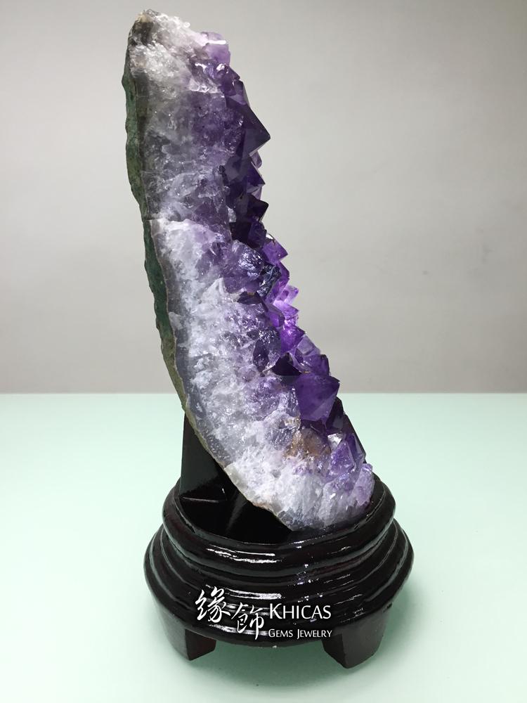 Khicas Gems Jewelry 緣飾天然水晶半寶石 巴西紫晶片 AF1535011