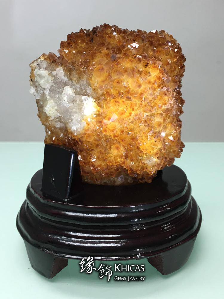 Khicas Gems Jewelry 緣飾天然水晶半寶石 巴西黃水晶花 黃晶花 AF1535013
