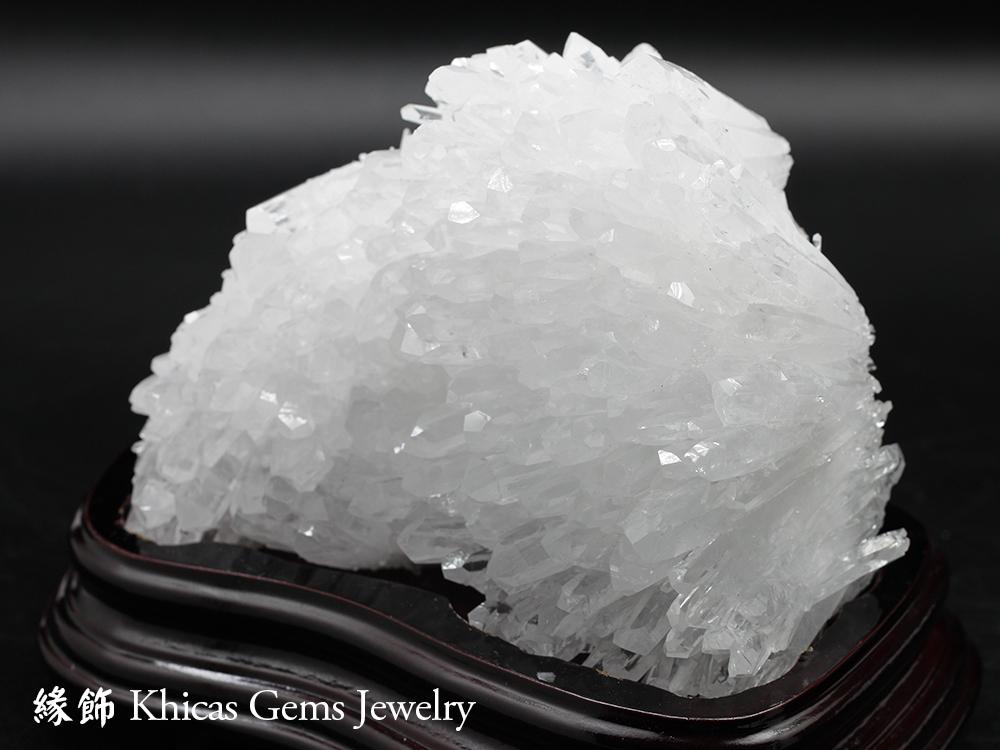 Khicas Gems Jewelry 緣飾天然水晶半寶石 巴西白水晶簇 CL1506001