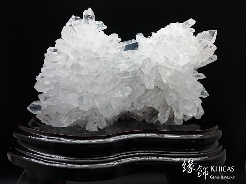 5A+ 巴西白水晶簇 CL1506040 Khicas Gems 緣飾