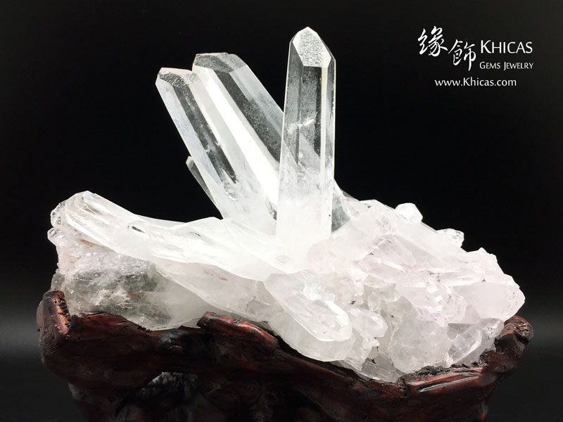 一帆風順.5A+ 巴西白水晶簇 CL1506100 Khicas Gems 緣飾