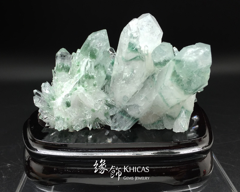 巴西 5A+ 綠幽靈水晶簇 Green Phantom Cluster CL1506113 @ Khicas Gems 緣飾