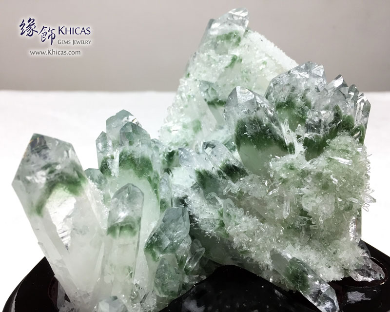 巴西 5A+ 綠幽靈水晶簇 Green Phantom Cluster CL1506114 @ Khicas Gems 緣飾
