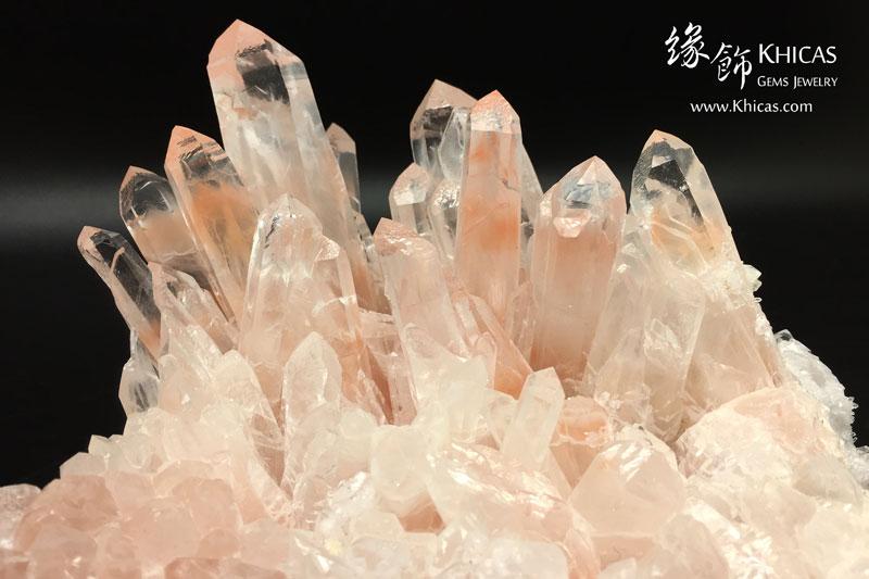 巴西紅兔毛水晶簇原礦(連可轉動木座) CL1506115 Khicas Gems 緣飾