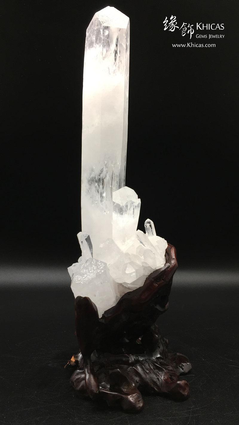 巴西雙晶柱白水晶簇原礦 CL1506116 Khicas Gems 緣飾