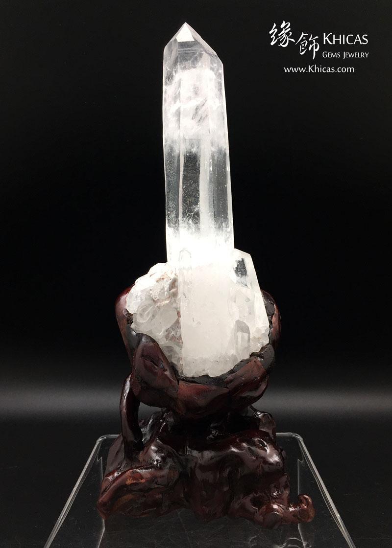 一柱擎天.5A+ 巴西白水晶簇 CL1506130 Khicas Gems 緣飾