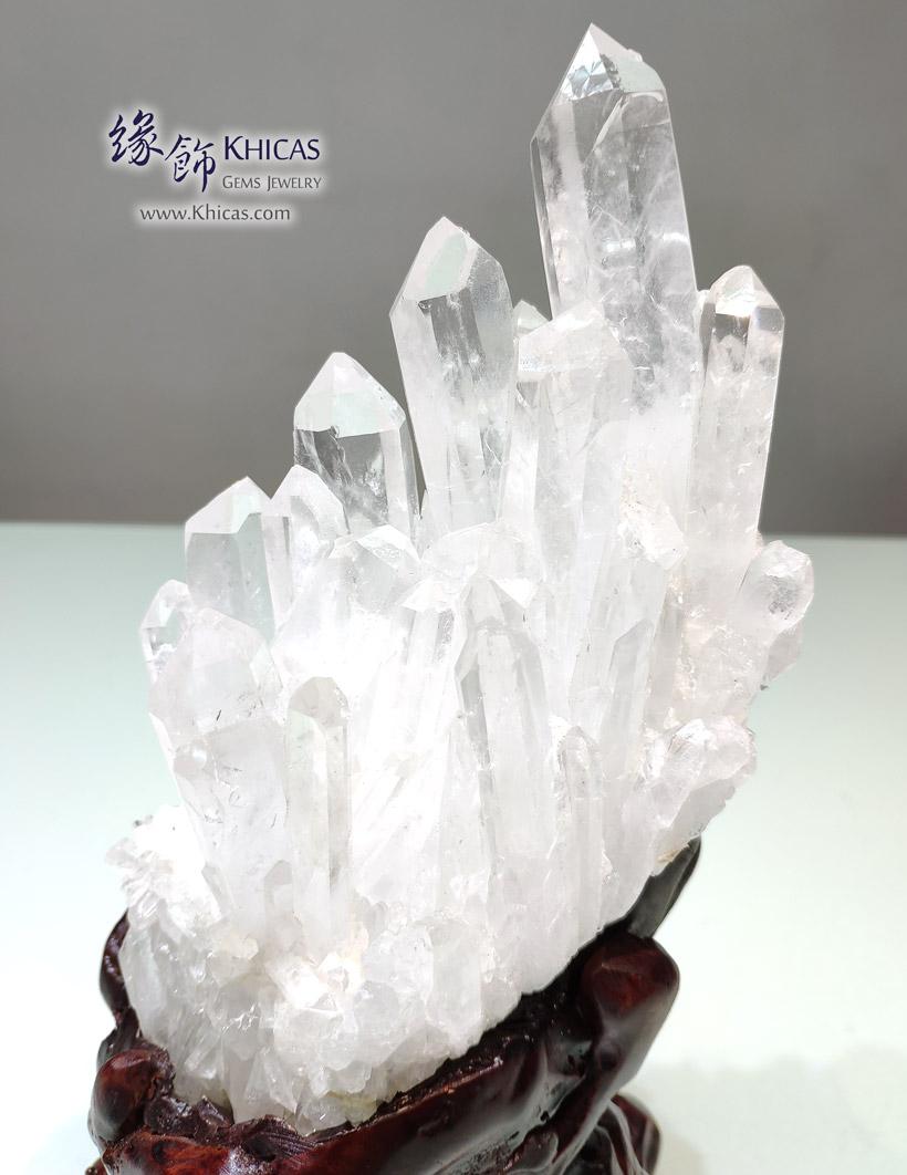 巴西 5A+ 白水晶簇 連樹根木座 White Quartz Crystal Cluster CL1506142-521 @ Khicas Gems Jewelry 緣飾天然水晶