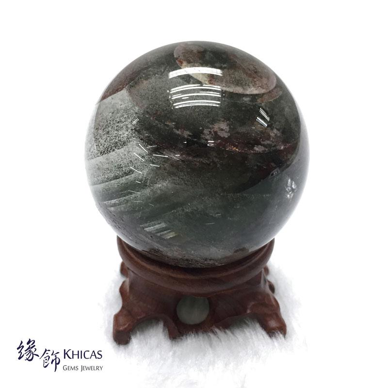 巴西千層綠幽靈水晶球 59mm DEC1410034 @ Khicas Gems 緣飾