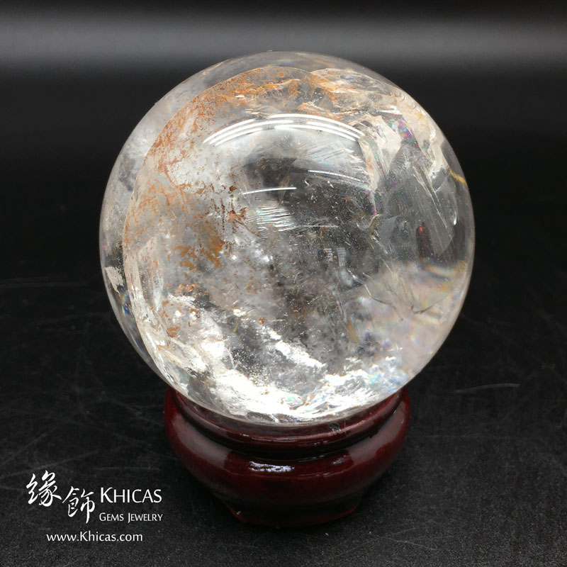 巴西白水晶球 70mm White Crystal Quartz DEC1410039 @ Khicas Gems 緣飾