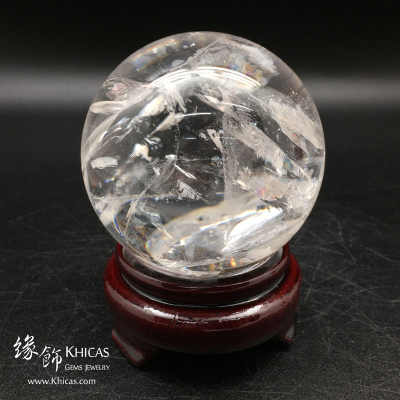 巴西白水晶球 80mm White Crystal Quartz DEC1410041 @ Khicas Gems 緣飾