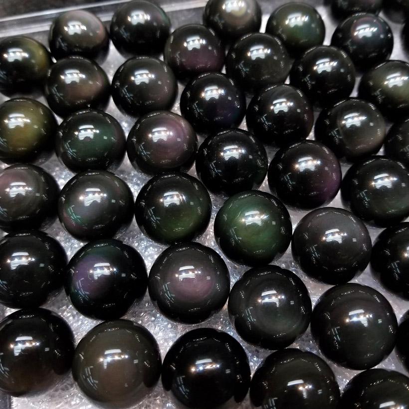 黑曜石水晶球 直徑 ⌀20mm Obsidian Crystal Balls 20mm DEC1410150 @ Khicas Gems Jewelry 緣飾天然水晶