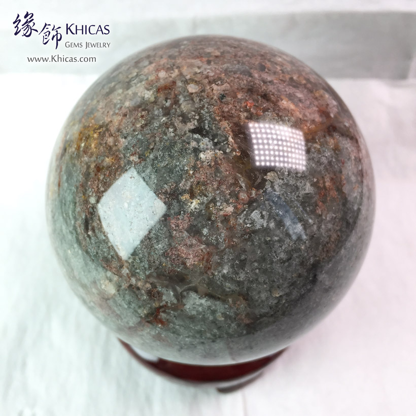 巴西千層綠幽靈水晶球 78.6mm Green Phantom Crystal Ball DEC1410180 @ Khicas Gems Jewelry 緣飾天然水晶