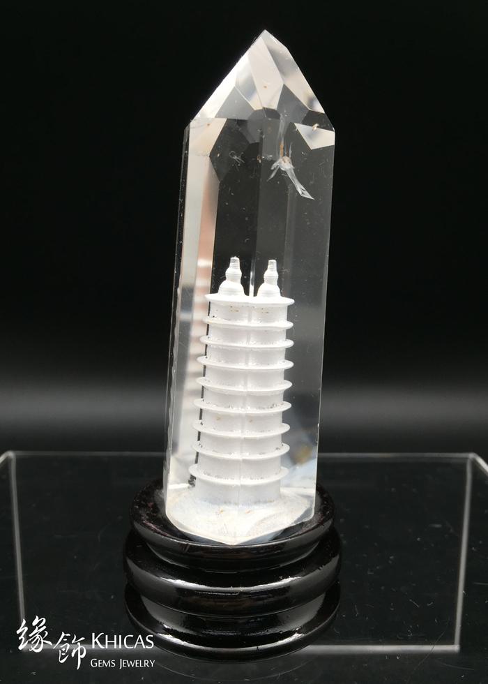 Khicas Gems 緣飾天然水晶 文昌塔白水晶柱 CL1506017