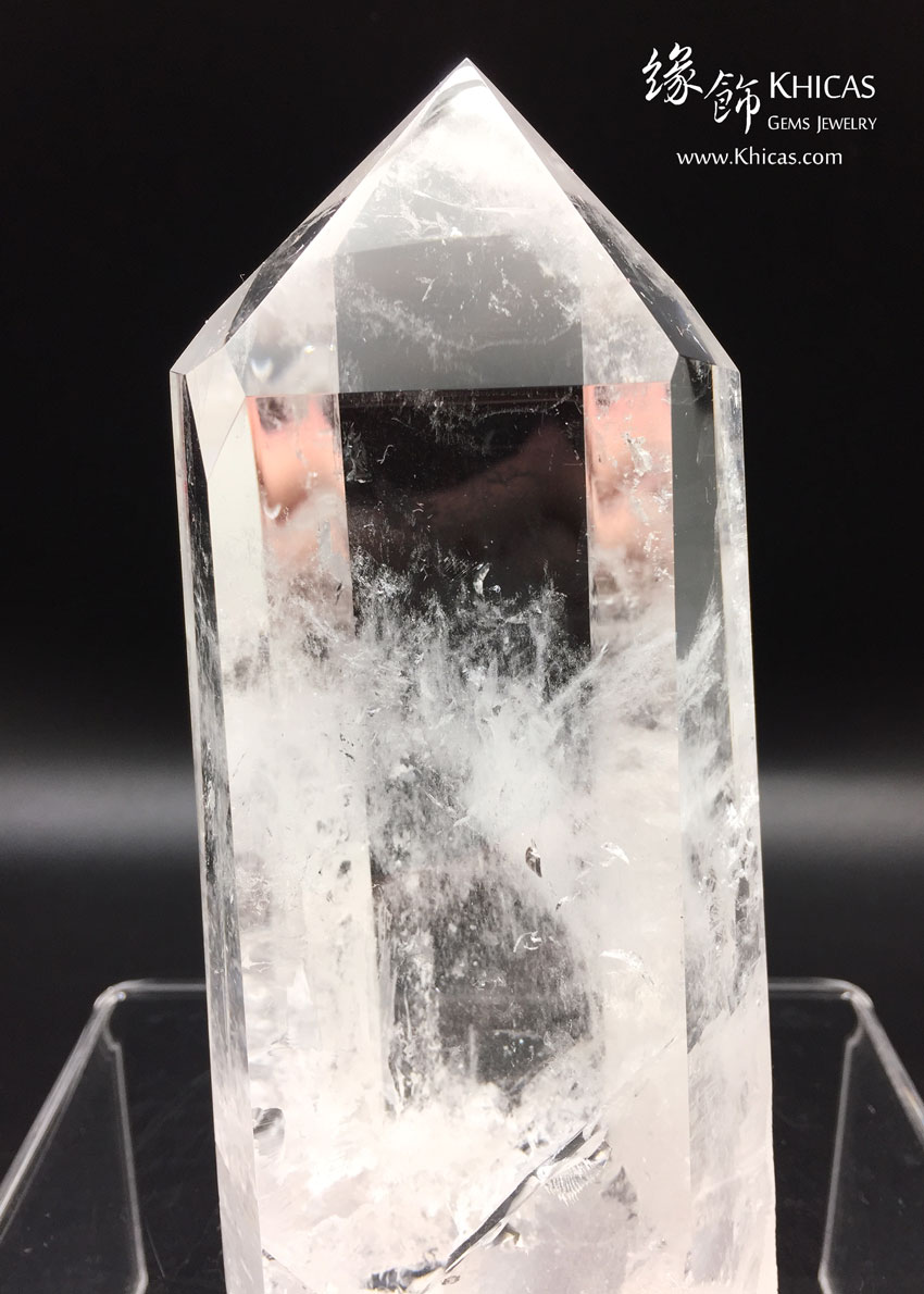 巴西白水晶柱 White Crystal Quartz Point CP1508027 @ Khicas Gems 緣飾天然水晶