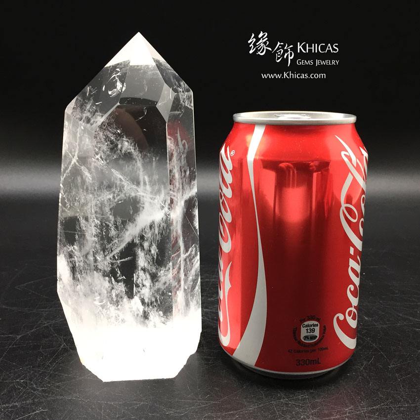 巴西白水晶柱 White Crystal Quartz Point CP1508028 @ Khicas Gems 緣飾天然水晶