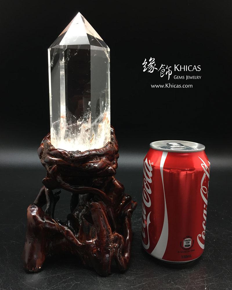 巴西 5A+ 超高清白水晶柱(連原木底座)CP1508032 @ Khicas Gems 緣飾