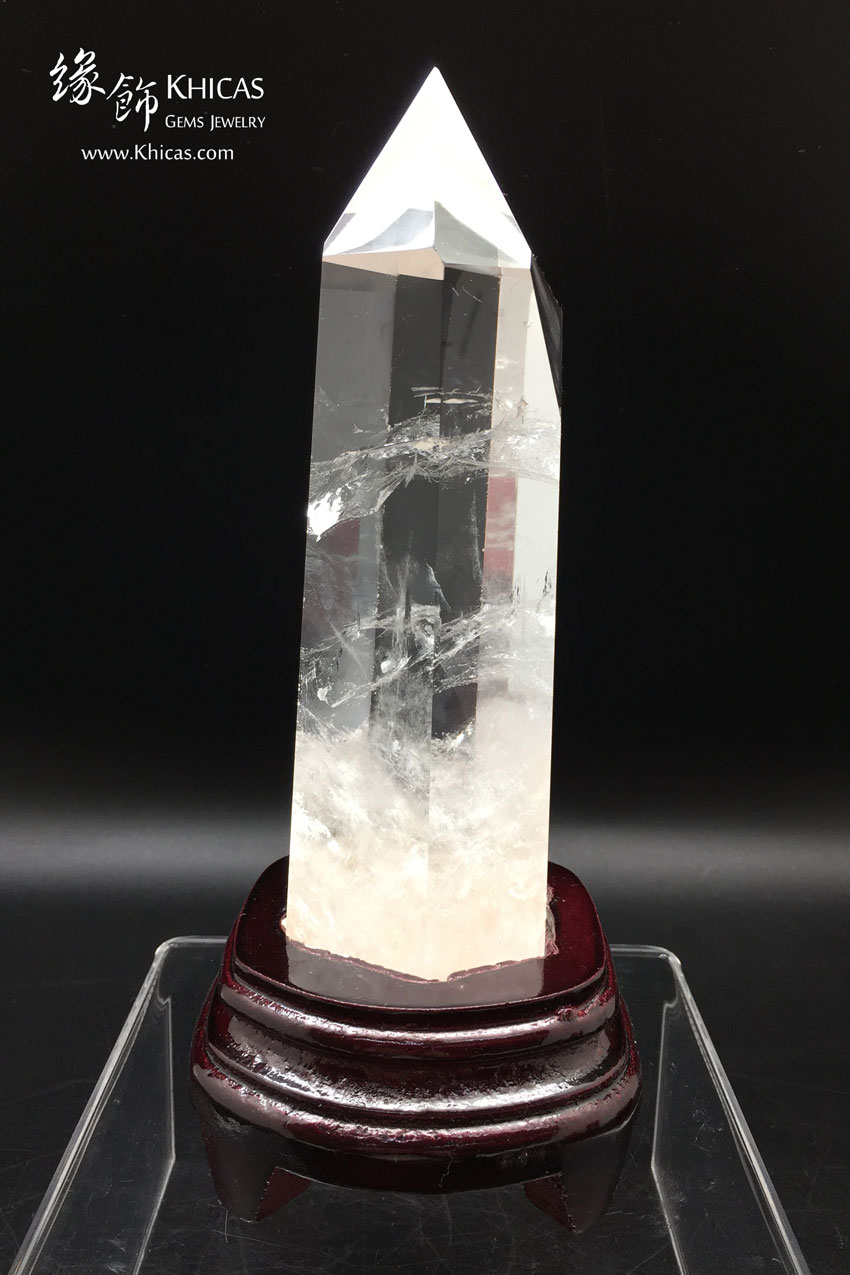 巴西白水晶柱 White Crystal Quartz Point CP1508038 @ Khicas Gems 緣飾天然水晶