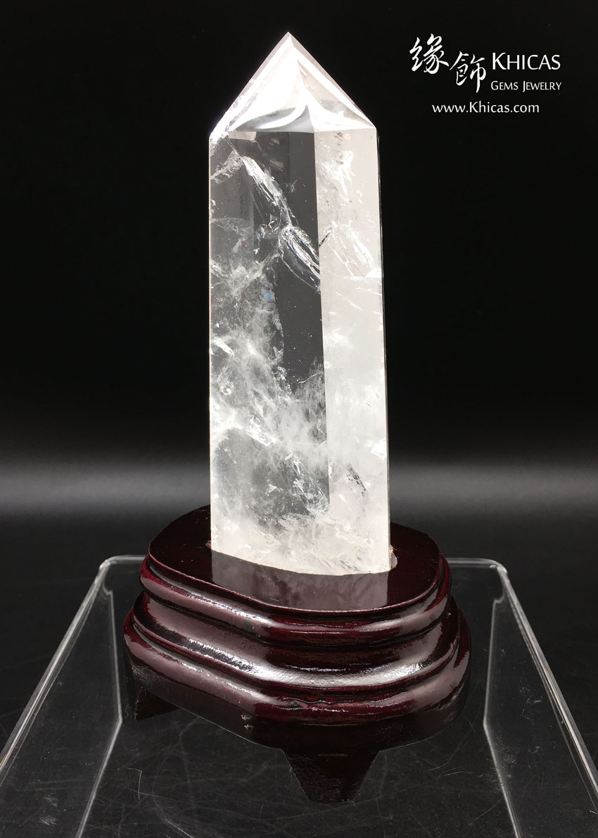 巴西白水晶柱 White Crystal Quartz Point CP1508039 @ Khicas Gems 緣飾天然水晶