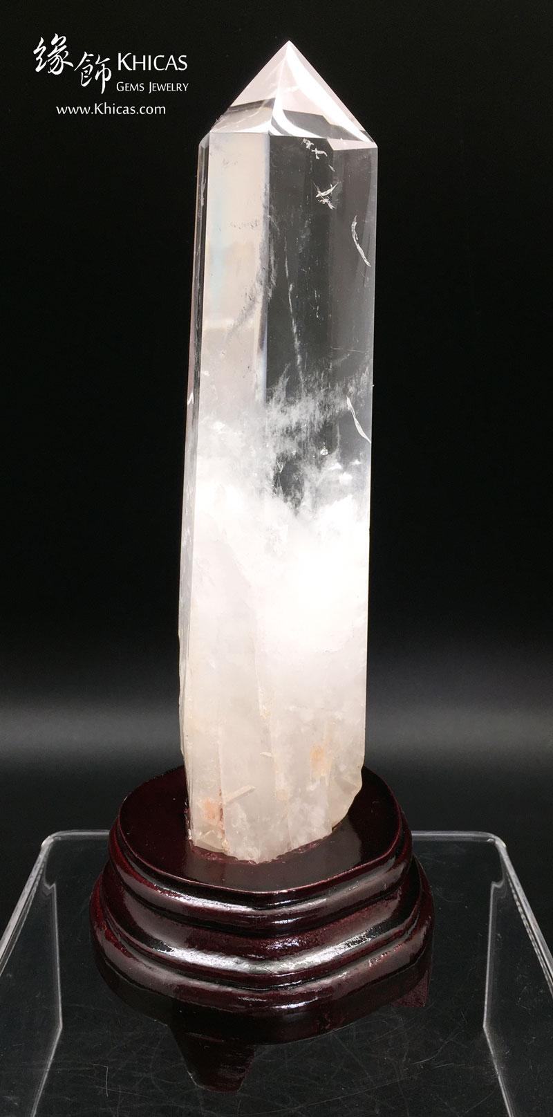巴西白水晶柱 White Crystal Quartz Point CP1508040 @ Khicas Gems 緣飾天然水晶