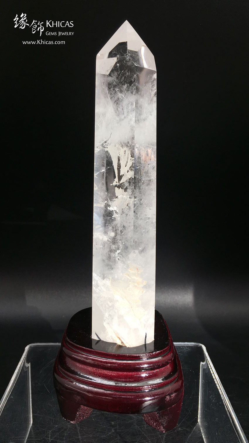 巴西白水晶柱 White Crystal Quartz Point CP1508042 @ Khicas Gems 緣飾天然水晶