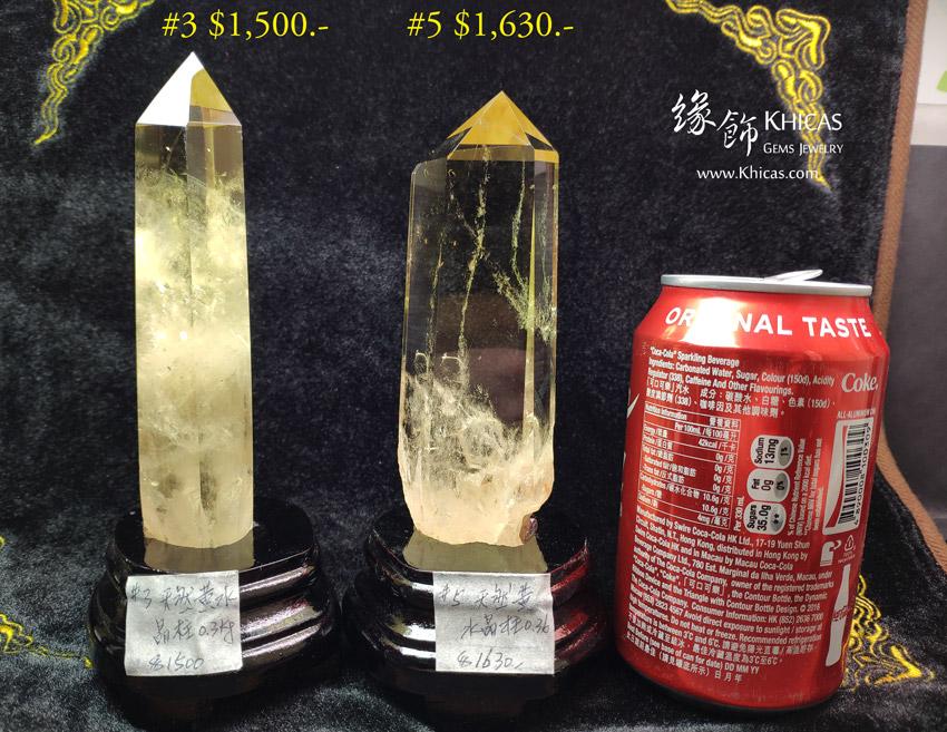 巴西黃水晶柱 Citrine Quartz Crystal Point CP1508052-55 @ Khicas Gems Jewelry 緣飾天然水晶