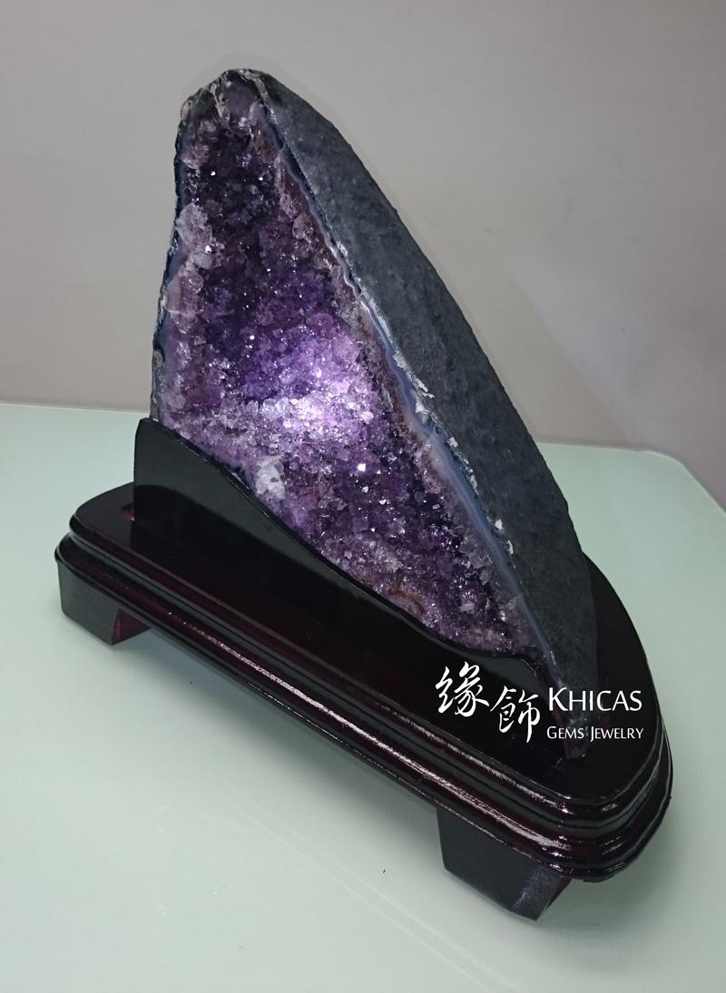 Khicas Gems Jewelry 緣飾天然水晶半寶石 巴西紫晶洞 GE1505003