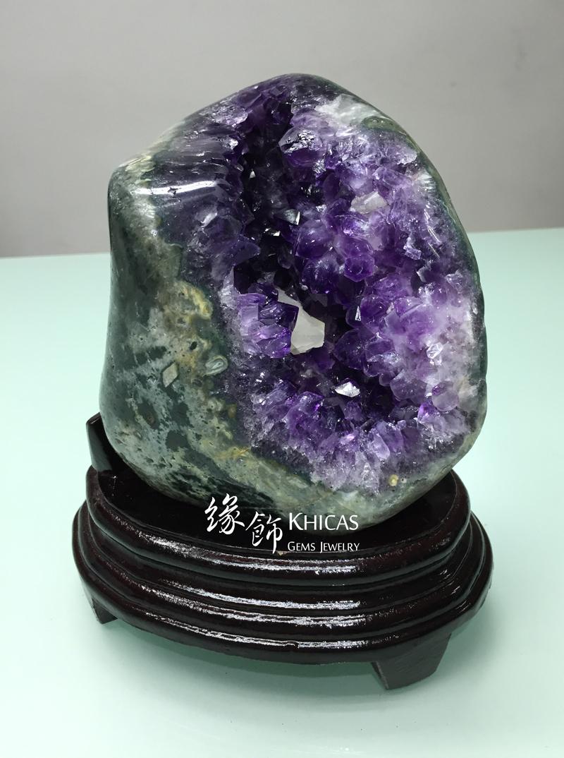 Khicas Gems Jewelry 緣飾天然水晶半寶石 烏拉圭迷你紫晶洞 GE1505007