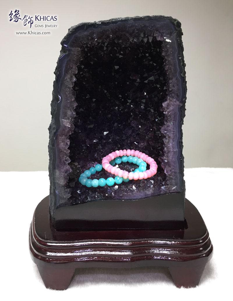 烏拉圭紫晶洞.帶金鈦絲 Geode GE1505018 @ Khicas Gems 緣飾