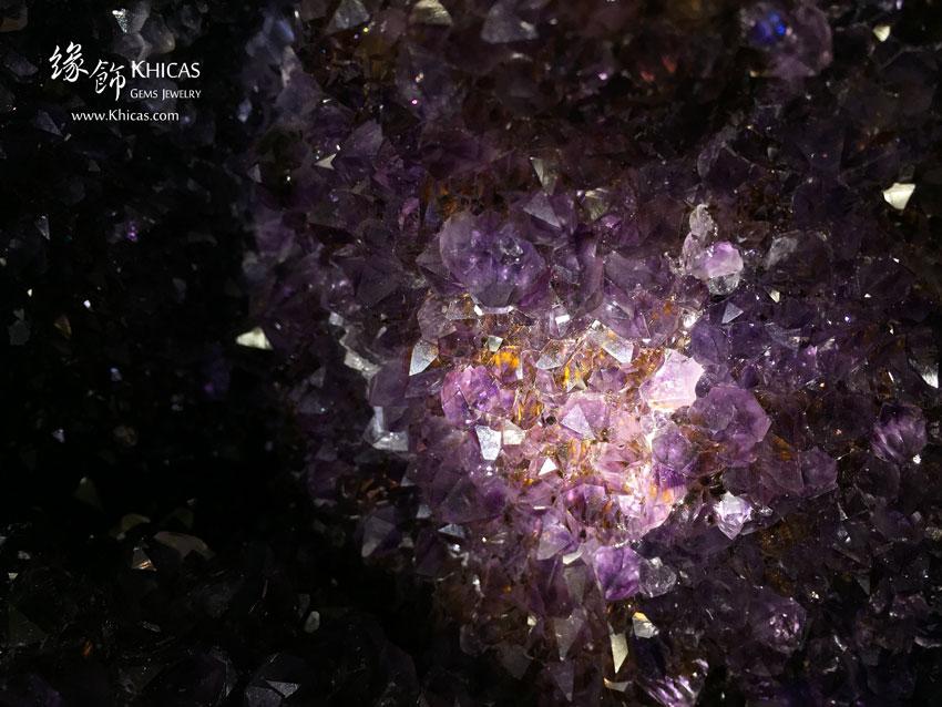 巴西紫晶洞.含金鈦絲共生 Geode GE1505019 @ Khicas Gems 緣飾