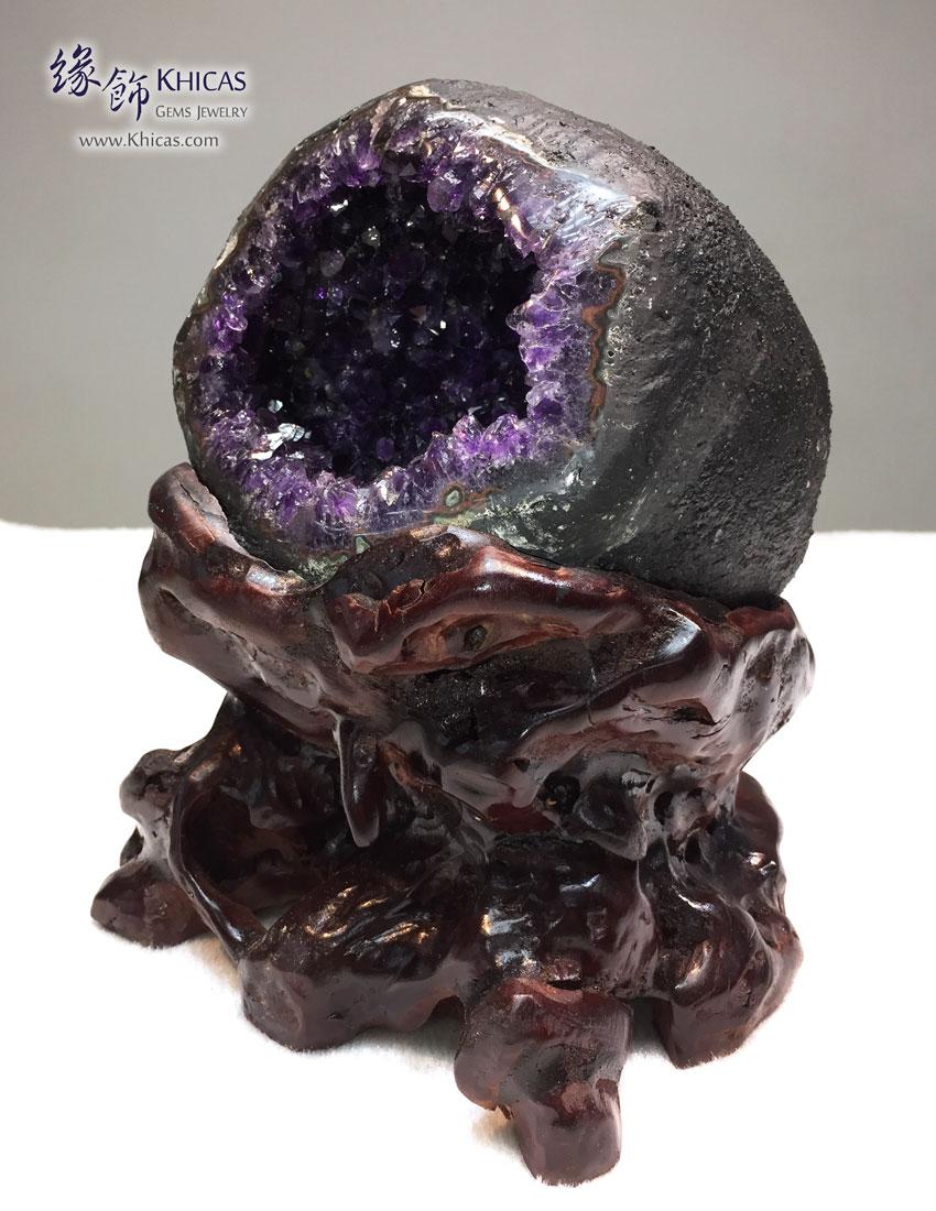 頂級烏拉圭錢袋紫晶洞 Geode GE1505021 @ Khicas Gems 緣飾