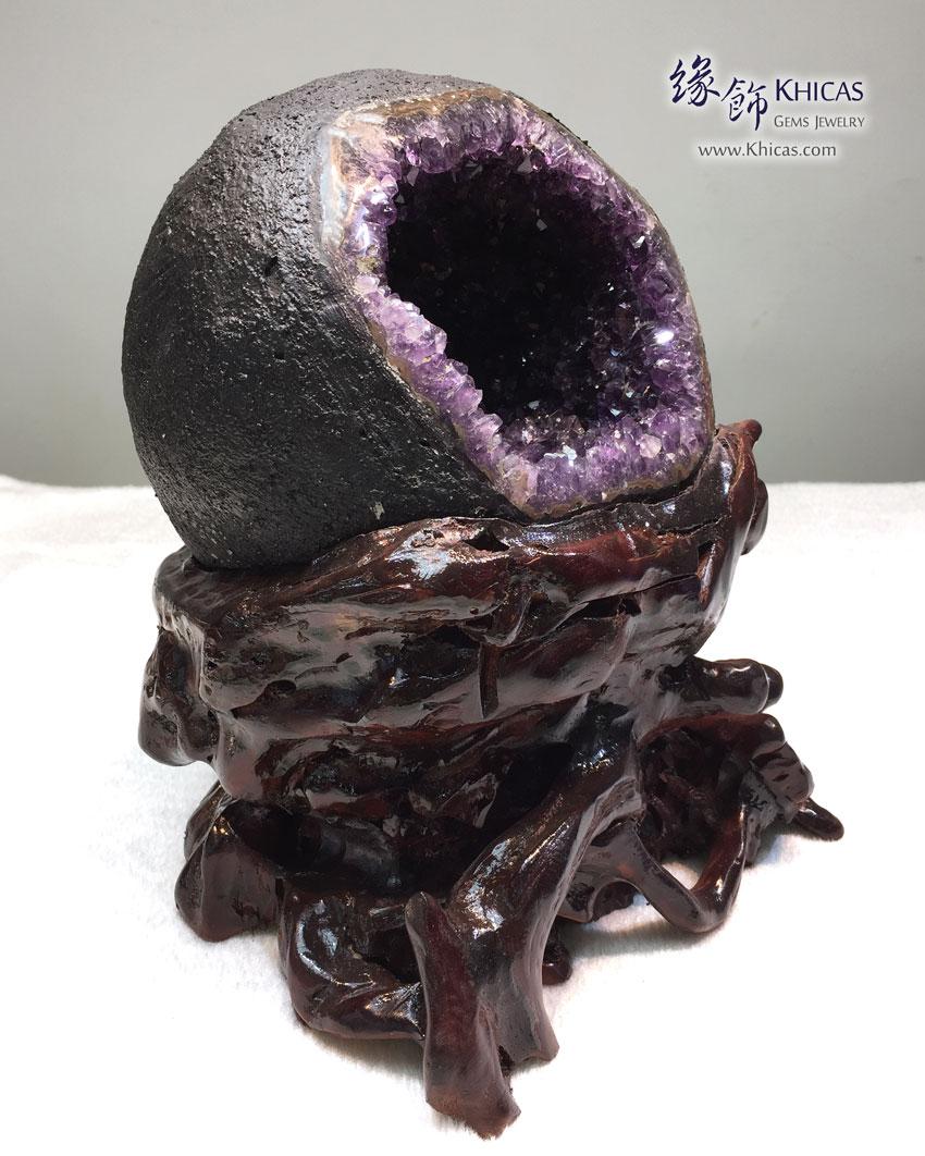 頂級烏拉圭錢袋紫晶洞 Uruguay Geode GE1505023 @ Khicas Gems 緣飾