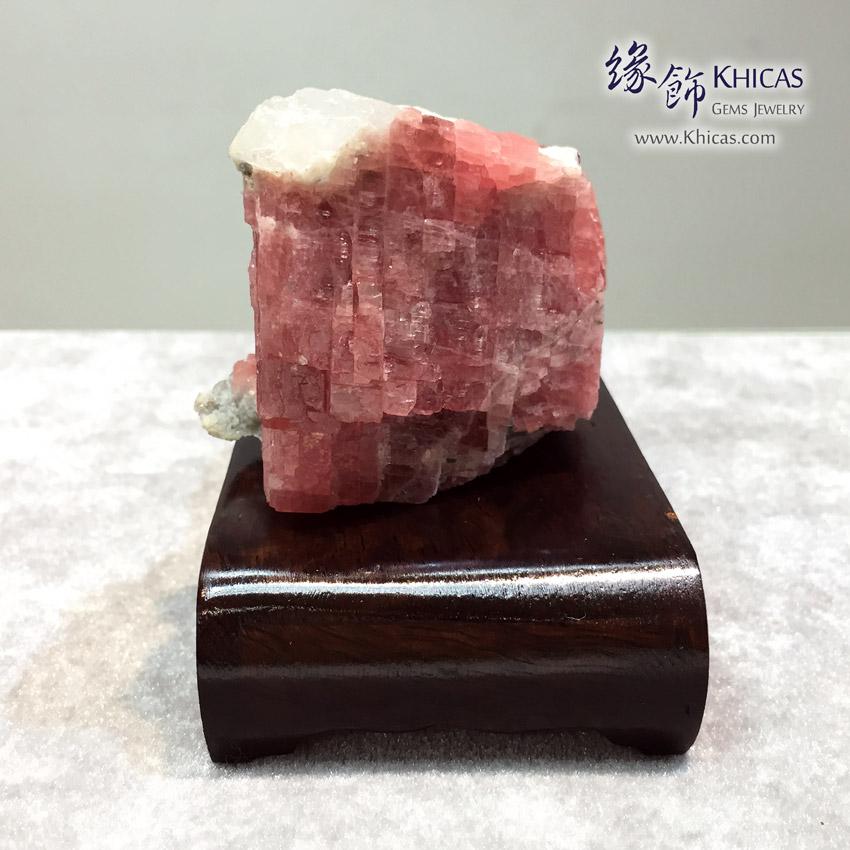 阿根廷紅紋石原石(原礦)擺設 Rhodochrosite Rough Raw Stone DEC1410080 @ Khicas Gems 緣飾天然水晶