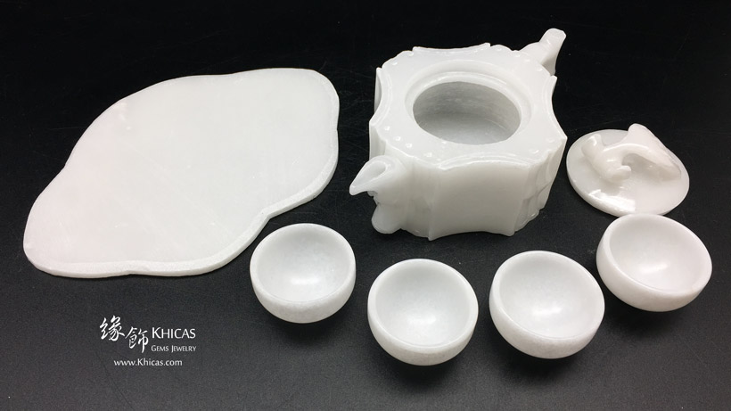 漢白玉茶具套裝擺設 Alabaster Tea Pot Set Craving DEC1410044 @ Khicas Gems Jewelry 緣飾天然水晶