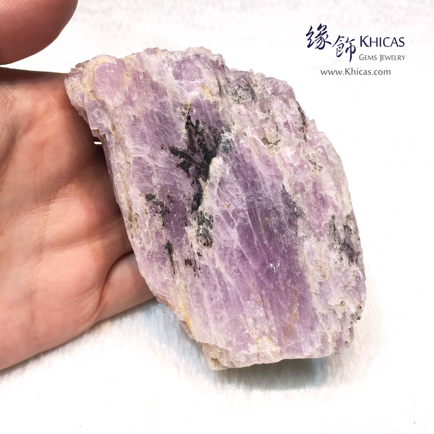 巴西紫鋰輝原石擺件 Kunzite Rough Stone Furnish DEC1410069 @ Khicas Gems 緣飾