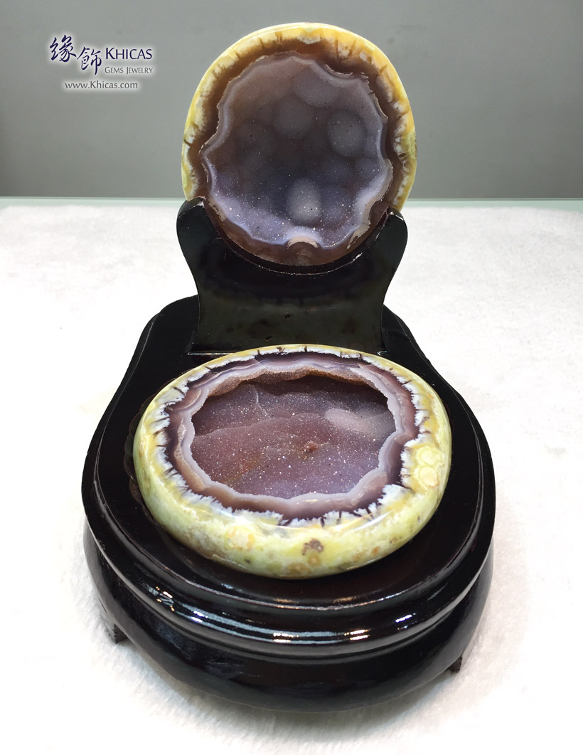 天然瑪瑙聚寶盆 Agate Treasure Bowl DEC1410089-475 @ Khicas Gems 緣飾