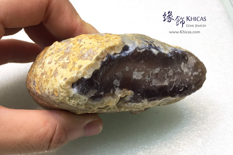 水膽瑪瑙原石/原礦 Enhydro Agate Rough Raw Stone DEC1410118-595 @ Khicas Gems Jewelry 緣飾天然水晶