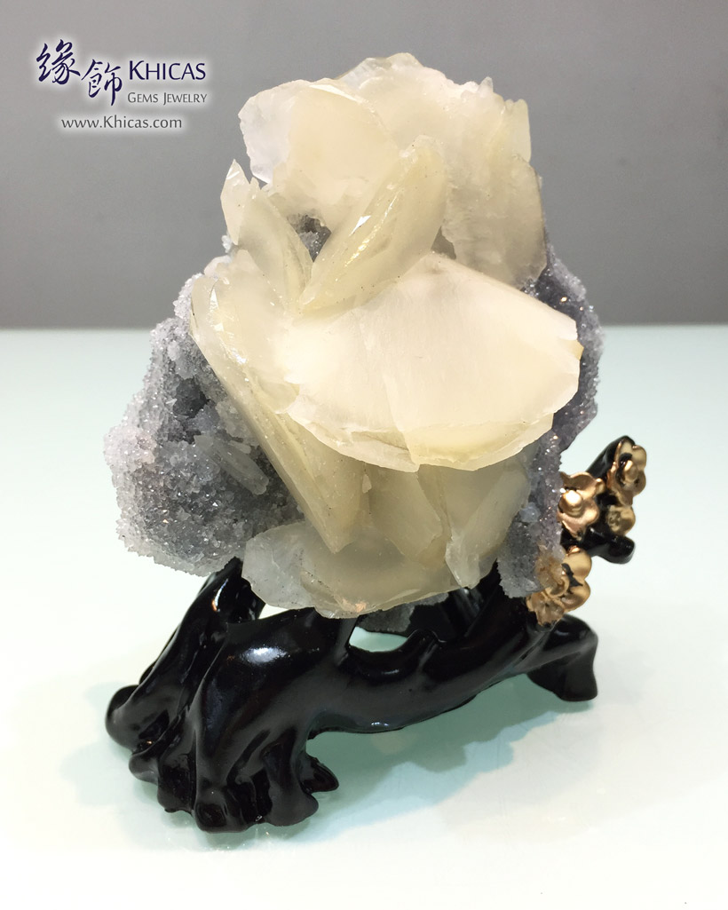 方解石花+白水晶共生原礦 / 原石擺設 Calcite cum White Crystal Quartz Rough Raw Stone DEC1410120-762 @ Khicas Gems Jewelry 緣飾天然水晶