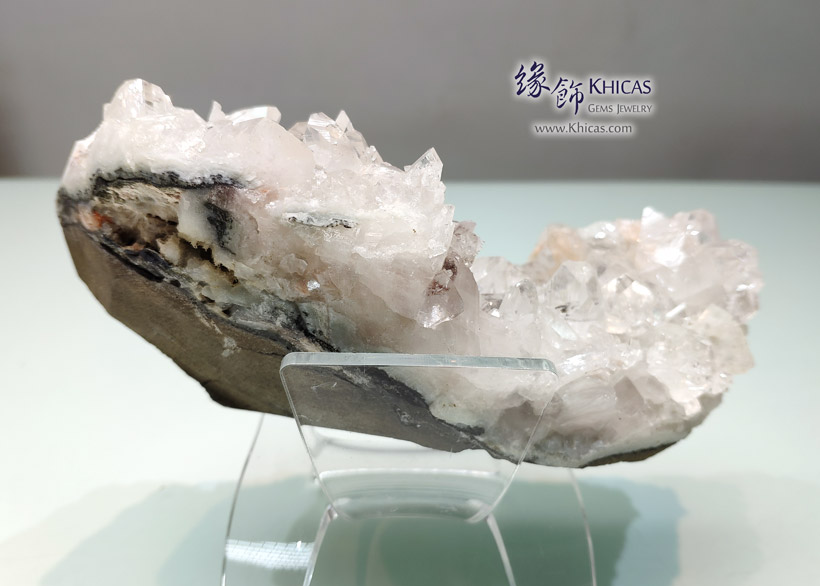 透明魚眼石原石 / 原礦擺件 Apophyllite Rough Stone Furnish DEC1410128-765 @ Khicas Gems Jewelry 緣飾天然水晶