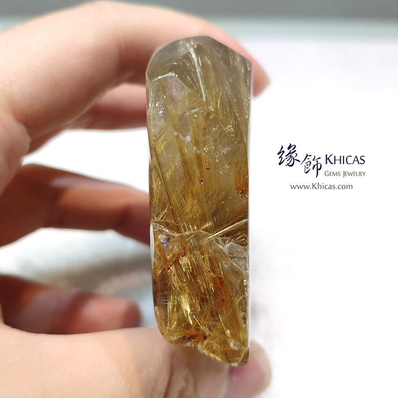 巴西金鈦晶原石擺件 擺設 Gold Rutilated Quartz Rough Stone Furnish DEC1410145-814 @ Khicas Gems Jewelry 緣飾天然水晶
