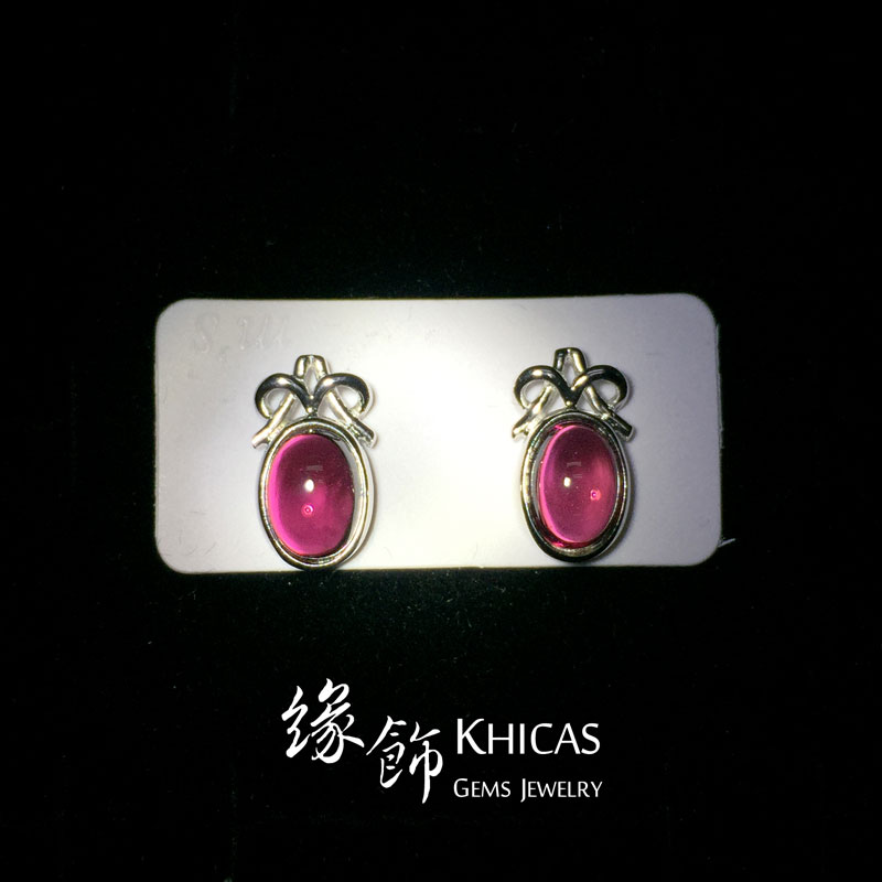 酒紅石榴石 蝴蝶結耳環 Garnet Earrings EA160102 @ Khicas Gems 緣飾