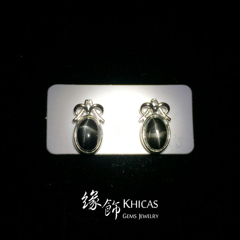 黑星石 蝴蝶結耳環 Earrings EA160103 @ Khicas Gems 緣飾