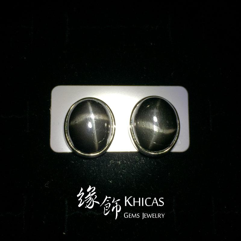 黑星石 大橢圓耳環 Earrings EA160104 @ Khicas Gems 緣飾