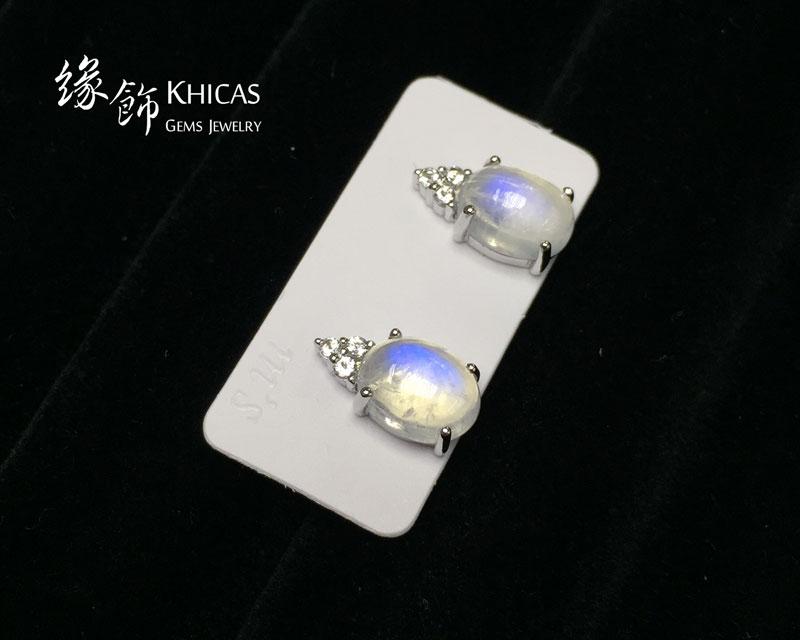 月亮石 四爪橢圓形耳環 Moonstone Earrings EA160117 @ Khicas Gems 緣飾