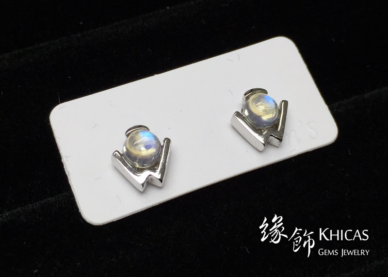 月亮石 W形耳環 Moonstone Earrings EA160140 @ Khicas Gems 緣飾