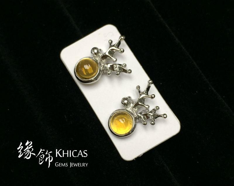 黃水晶 鹿角耳環 Citrine Earrings EA160149 @ Khicas Gems 緣飾