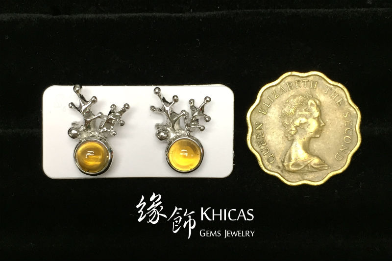 黃水晶 鹿角耳環 Citrine Earrings EA160149 @ Khicas Gems 緣飾