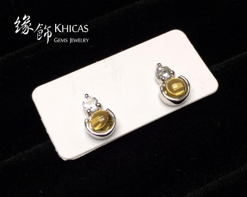 黃水晶 小圓釘耳環 Citrine Earrings EA160150 @ Khicas Gems 緣飾