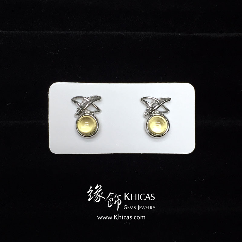 黃水晶 天星耳環 Citrine Earrings EA160151 @ Khicas Gems 緣飾