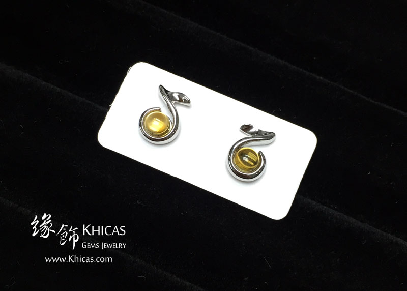 黃水晶 音符耳環 Citrine Earrings EA160152 @ Khicas Gems 緣飾